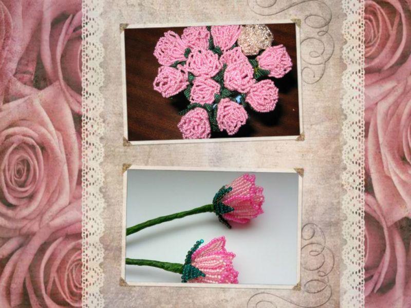 Růže z korálků 30. 10. 2019 ST